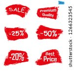 sell red grunge icon paint... | Shutterstock .eps vector #1266323545