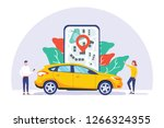 online car sharing vector...