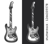 Electric Guitar. Monochrome...