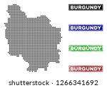 vector dot abstract burgundy... | Shutterstock .eps vector #1266341692