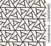 vector seamless geometric... | Shutterstock .eps vector #1266350482