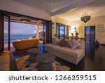 luxury villa living room... | Shutterstock . vector #1266359515