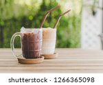 iced chocolate and iced coffee... | Shutterstock . vector #1266365098