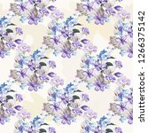 seamless floral pattern with... | Shutterstock .eps vector #1266375142