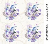 seamless floral pattern with... | Shutterstock .eps vector #1266375145