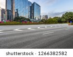 empty road front of modern... | Shutterstock . vector #1266382582