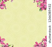 seamless floral pattern with... | Shutterstock .eps vector #1266385432