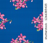 seamless floral pattern with... | Shutterstock .eps vector #1266385435