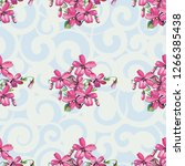 seamless floral pattern with... | Shutterstock .eps vector #1266385438