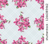 seamless floral pattern with... | Shutterstock .eps vector #1266385462