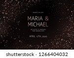 pink gold glitter powder splash ... | Shutterstock .eps vector #1266404032