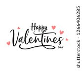 happy valentines day typography ... | Shutterstock .eps vector #1266406285