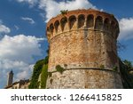 medieval fortification walls... | Shutterstock . vector #1266415825
