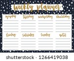 cute weekly planner for 2019... | Shutterstock .eps vector #1266419038