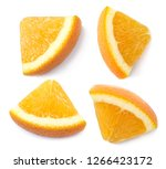 a slices of orange  cut out.... | Shutterstock . vector #1266423172
