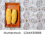 the steamed corn of the pearl... | Shutterstock . vector #1266430888