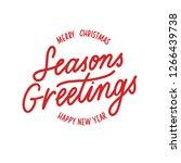 seasons greetings merry... | Shutterstock .eps vector #1266439738