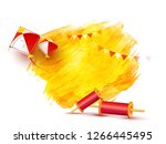 greeting card design with... | Shutterstock .eps vector #1266445495