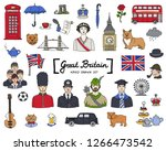 vector set with hand drawn... | Shutterstock .eps vector #1266473542