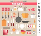 kitchenware flat vector set. | Shutterstock .eps vector #1266475912