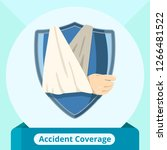 accident protection coverage... | Shutterstock .eps vector #1266481522