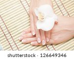 beautiful human hand  spa   Shutterstock . vector #126649346