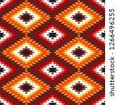seamless pattern turkish carpet ... | Shutterstock . vector #1266496255