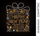 christmas greeting. christmas... | Shutterstock .eps vector #1266497362
