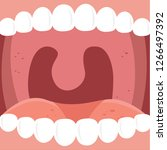 human oral cavity illustration... | Shutterstock .eps vector #1266497392