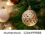decorated christmas tree on... | Shutterstock . vector #1266499888