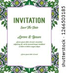 invitation card for wedding... | Shutterstock .eps vector #1266503185