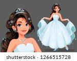 Beautiful Cute Princess With...