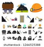 mining industry cartoon  black...   Shutterstock .eps vector #1266525388