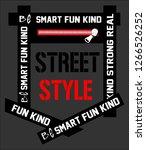 slogan print for t shirt... | Shutterstock .eps vector #1266526252