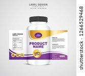 bottle label  package template... | Shutterstock .eps vector #1266529468