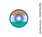 abstract indian republic day...   Shutterstock .eps vector #1266536458