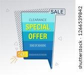 sale  special offer banner. | Shutterstock .eps vector #1266539842