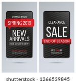 sale and new arrivals banner or ... | Shutterstock .eps vector #1266539845