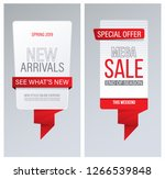 sale and new arrivals banner or ... | Shutterstock .eps vector #1266539848