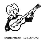 singing cowboy   retro clipart... | Shutterstock .eps vector #126654092
