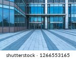 modern office building outdoors ... | Shutterstock . vector #1266553165