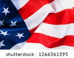 American Flag Border Isolated...
