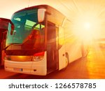 beautiful landscape tourist bus ... | Shutterstock . vector #1266578785