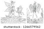 little fairy girl playing with... | Shutterstock .eps vector #1266579562