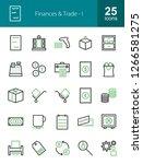finances   trade line icons | Shutterstock .eps vector #1266581275