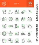 spa line icons | Shutterstock .eps vector #1266581308