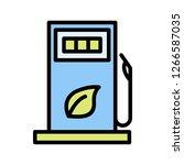 gas vector iconsign icon vector ... | Shutterstock .eps vector #1266587035