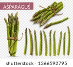 fresh green asparagus spears... | Shutterstock .eps vector #1266592795