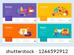set of web banners digital... | Shutterstock .eps vector #1266592912