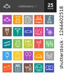 celebrations line icons | Shutterstock .eps vector #1266602518